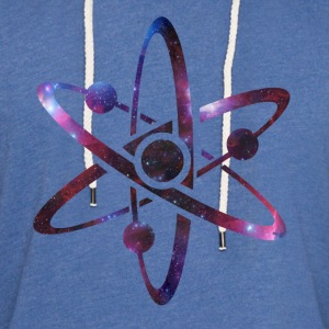 Atom Universe Galaxy T-Shirts - Unisex Lightweight Terry Hoodie
