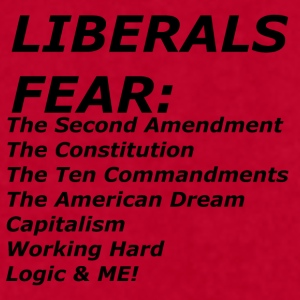 LIBERALS FEAR Mugs & Drinkware - Men's T-Shirt by American Apparel
