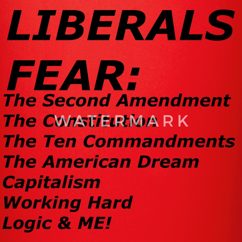 LIBERALS FEAR Mugs & Drinkware - Full Color Mug