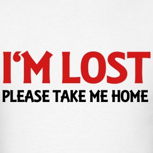 I'm lost - Please take me home Long Sleeve Shirts - Men's T-Shirt