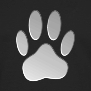 Metalic Dog Paw Print - Men's Premium Long Sleeve T-Shirt