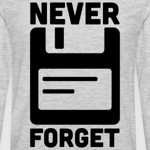 Never Forget Floppy Disk  Women's T-Shirts - Men's Premium Long Sleeve T-Shirt