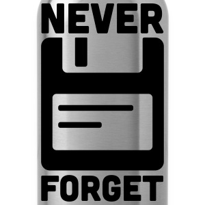 Never Forget Floppy Disk  Women's T-Shirts - Water Bottle