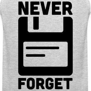 Never Forget Floppy Disk  Women's T-Shirts - Men's Premium Tank
