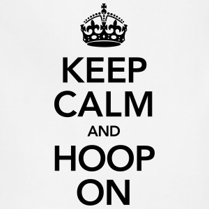 Keep Calm And Hoop On Long Sleeve Shirts - Adjustable Apron