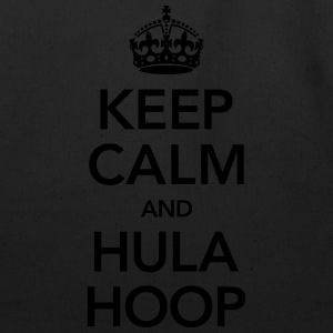 Keep Calm And Hula Hoop Women's T-Shirts - Eco-Friendly Cotton Tote