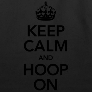 Keep Calm And Hoop On T-Shirts - Eco-Friendly Cotton Tote