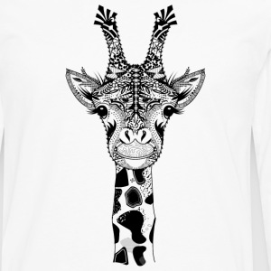 A head of a giraffe T-Shirts - Men's Premium Long Sleeve T-Shirt