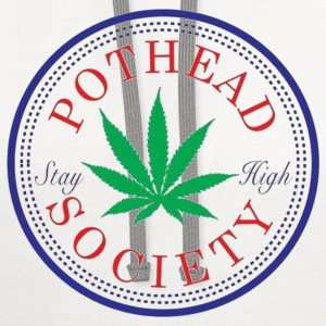 Pothead Society T-Shirts - Contrast Hoodie