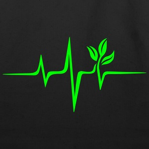 Pulse Green, Go Vegan, Save Earth, Wave, Heartbeat T-Shirts - Eco-Friendly Cotton Tote