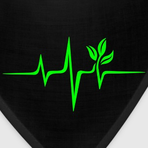 Pulse Green, Go Vegan, Save Earth, Wave, Heartbeat T-Shirts - Bandana
