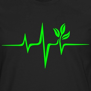 Pulse Green, Go Vegan, Save Earth, Wave, Heartbeat T-Shirts - Men's Premium Long Sleeve T-Shirt