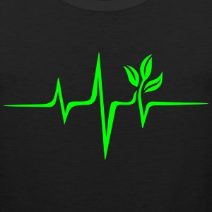 Pulse Green, Go Vegan, Save Earth, Wave, Heartbeat T-Shirts - Men's Premium Tank