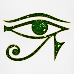 Eye of Horus reverse Moon eye of Thot I T-Shirts - Adjustable Apron