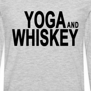 yoga__whiskey_tshirts - Men's Premium Long Sleeve T-Shirt