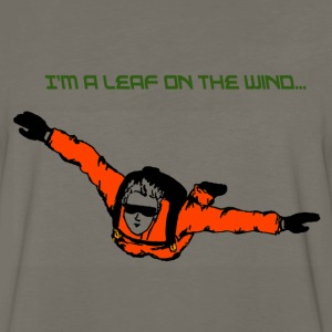 Skydiver I'm a leaf on the wind - Men's Premium Long Sleeve T-Shirt