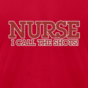 Nurse calls the shots nursing - Men's T-Shirt by American Apparel