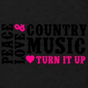 PEACE LOVE AND COUNTRY MUSIC - Men's T-Shirt