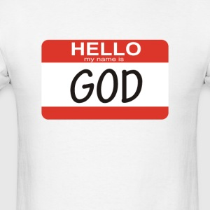 Hello my name is God - Men's T-Shirt