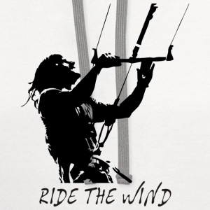 Kite Surf - Ride the Wind T-Shirts - Contrast Hoodie