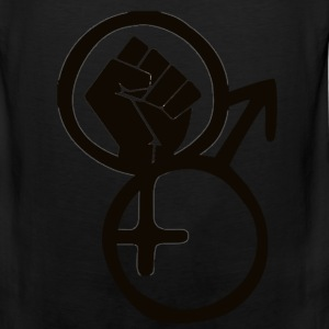 fist,women,black men,symbols,black women,gender,bl - Men's Premium Tank