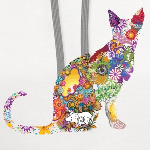 Colourful Cat - Contrast Hoodie