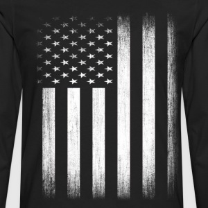 US Flag Distressed - Men's Premium Long Sleeve T-Shirt