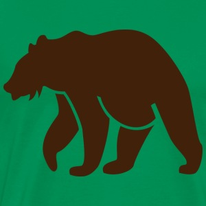 Brown Bear Silhouette - Men's Premium T-Shirt