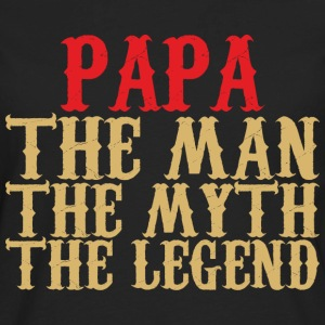 Papa T-Shirt - Papa - The Man, The Myth, The Legend - Men's Premium Long Sleeve T-Shirt