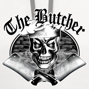 Butcher Skull and Smoking Cleavers 3.1 - Contrast Hoodie