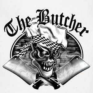 Butcher Skull and Smoking Cleavers 5 - Adjustable Apron