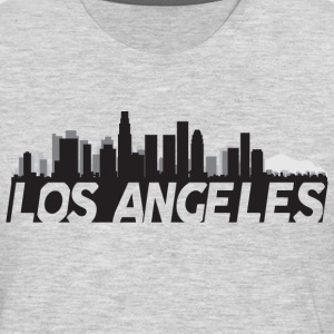 Los Angeles California Skyline - Men's Premium Long Sleeve T-Shirt