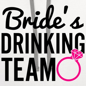 Bride's Drinking Team Women's T-Shirts - Contrast Hoodie