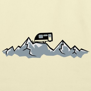 Alps mountains tent tents top mountains at T-Shirts - Eco-Friendly Cotton Tote