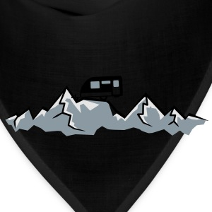 Alps mountains tent tents top mountains at T-Shirts - Bandana