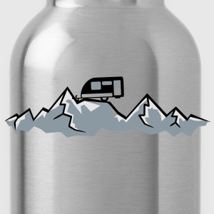 Alps mountains tent tents top mountains at T-Shirts - Water Bottle
