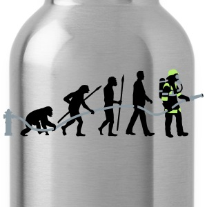 evolution of man firefighter T-Shirts - Water Bottle