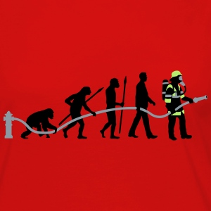 evolution of man firefighter T-Shirts - Women's Premium Long Sleeve T-Shirt