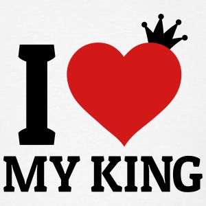 I love my King Hoodies - Men's T-Shirt
