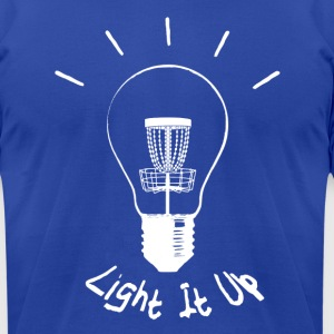 Light it up (white ink) Hoodies - Men's T-Shirt by American Apparel