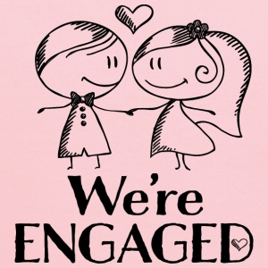 Engagement Announcement We're Engaged Women's T-Shirts - Kids' Hoodie