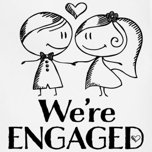 Engagement Announcement We're Engaged T-Shirts - Adjustable Apron
