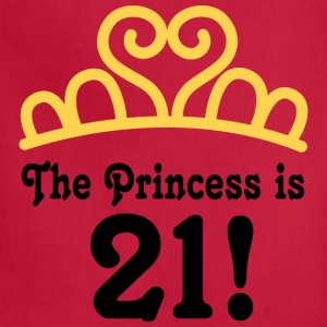 21st Birthday Princess Is 21 Women's T-Shirts - Adjustable Apron