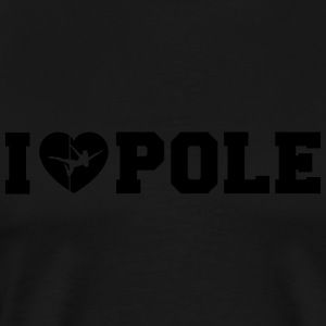 I Love Pole Tank Top - Men's Premium T-Shirt