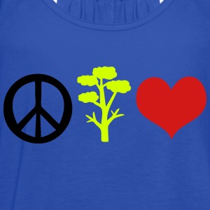 Peace tree and heart Toddler Premium T-Shirt - Women's Flowy Tank Top by Bella