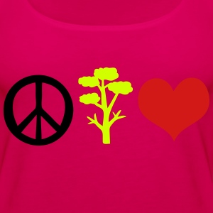 save the tree peace Women's Premium T-Shirt - Women's Premium Tank Top