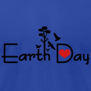 Earth day Women's Flowy Tank Top by Bella - Men's T-Shirt by American Apparel