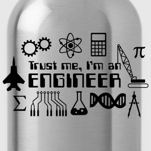 Trust Me I'm an Engineer T-Shirts - Water Bottle