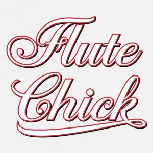 White Flute Chick Script  Accessories - Men's Premium T-Shirt