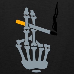 smoker hand (3c) black T-Shirt - Men's Premium Tank